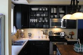 Behr Kitchen Cabinet Paint Behr Beluga Kitchen Black Cabinets Open Cabinets Shelving Ikea