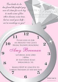 around the clock bridal shower the clock bridal shower invitation