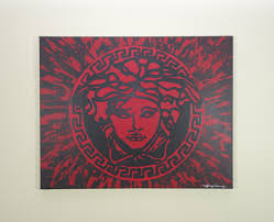 versace painting 20x16 versace inspired pop art splatter