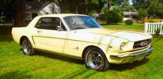 1965 yellow mustang 1965 mustang coupe restored