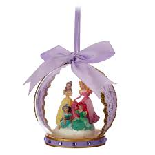 disney princess glass globe ornament lilac shopdisney