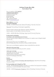 Sample Resume Objectives Psychology by Resume Sample Psychology Graduate Augustais