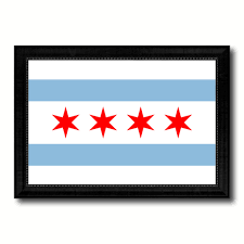 Chicaho Flag Chicago City Illinois State Flag Home Decor Office Wall Art