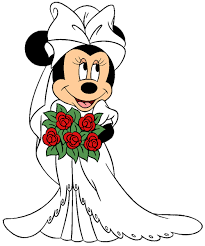 mickey and minnie wedding mouse wedding clipart