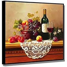 Artwork For Dining Room Amazon Com Wine U0026 Fruit Grapes And Apples Still Life Kitchen