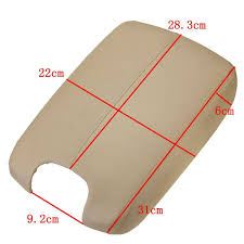pu leather plastic center console arm rest lid for 2008 2012 honda