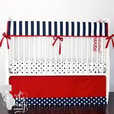 red navy stars u0026 stripes americana baby crib skirt