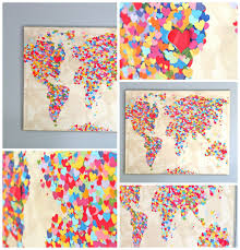 World Map Art United Colors Of Love World Map Welcometothemousehouse Com