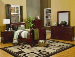 furniture dark brown wood nightstand with drawers next to dark