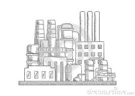 how to draw factory building 28 images factory sketch stock