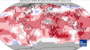 Weather Classic Map Earth Has Recorded Its Warmest July On Record The Weather Channel