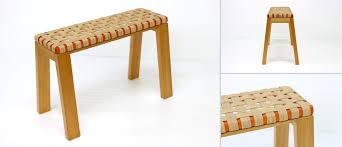 weaved small bench aluraamara design wooden crafts furniture