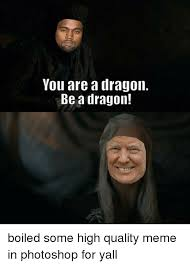 Too Damn High Meme Generator - you are a dragon be a dragon meme on conservative memes