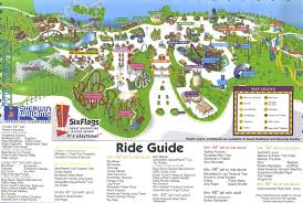 New York Six Flags Great Adventure Theme Park Page Park Map Archive