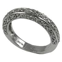 filigree wedding band platinum antique fancy filigree wedding band ring