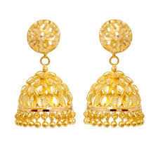 ear ring photo jhumki earrings trendy leaves designed gold earring grt jewellers