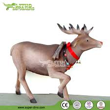 Christmas Decorations Life Size Reindeer by Christmas Fiberglass Decoration Life Size Reindeer Buy Life Size