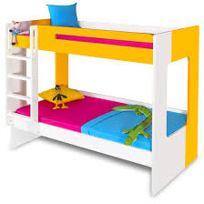 Buy Bunk Bed Online India Manhattan Bunk Bed Yellow White Kids Bunk Beds Online