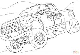 monster energy monster truck coloring page free printable