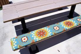 picnic table seat covers picnic table bench cushions awesome ptc outdoors llc and custom