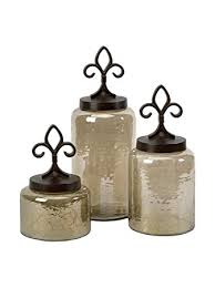 fleur de lis canisters for the kitchen amazon com imax 20075 3 fleur de lis lidded jars set of 3 home