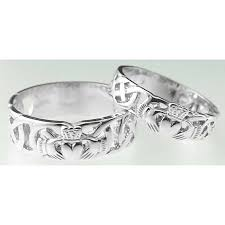 claddagh wedding ring sets 10k 14k 18k white gold celtic claddagh wedding band ring set