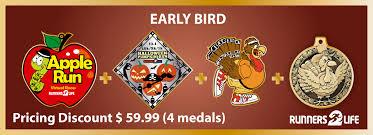 halloween medals the trio halloween pumpkin run turkey trot dark trails owl