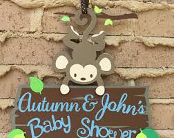 monkey decorations for baby shower monkey baby shower etsy