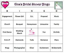 wedding words for bingo bridal shower bingo home garden ebay