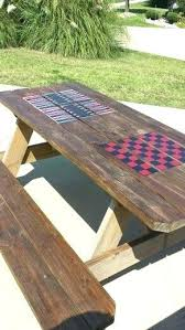 rustic outdoor picnic tables picnic table ideas rippletech co