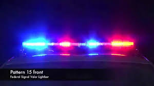 code 3 pursuit light bar video federal signal valor lightbar flash patterns