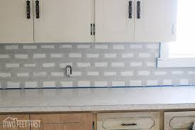 DIY Cheap Subway Tile Backsplash Hometalk - Diy kitchen backsplash tile