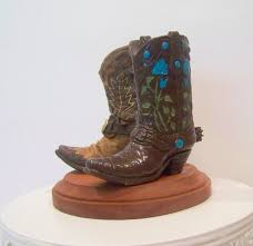 cowboy cake topper rustic cake topper his and western cowboy boots wedding cake