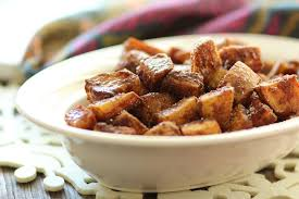 last minute thanksgiving cinnamon sugar sweet potatoes