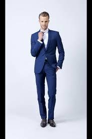costume bleu mariage costume bleu roi un bouton mode homme look mariage