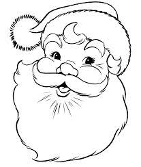 santa claus kids coloring pages free colouring pictures