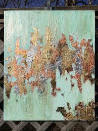 Shades Of Light Com by Textured Acrylic Canvas With Gold Copper And Silver Leaf Shades