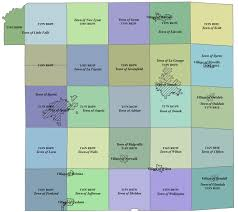 Wisconsin Public Land Map by Plats And Surveys