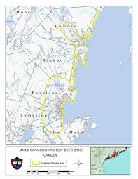 map of camden maine camden area expanded archery season on deer trapping