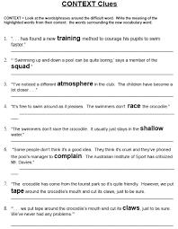 context clues lessons tes teach