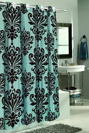 Teal Colored Shower Curtains Blue And Brown Shower Curtain Interior Orange Pattern Fabric