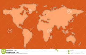 Basic World Map by World Map Stencil Stock Image Image 38122661