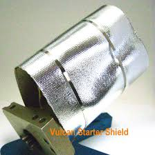 mylar wraps pa4121 racing motorhome starter heat shield wrap reflective