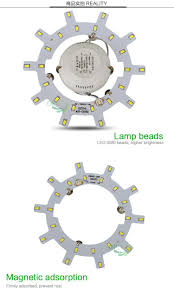 kitchen light panels 12w24w led round magnet ceiling light panel plate aluminum heat