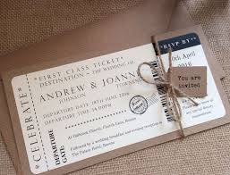 ticket wedding invitations vintage shabby chic style ticket wedding invitation stationery
