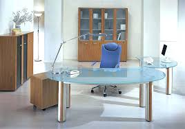 Modern Glass Office Desks Modern Glass Office Atken Me