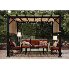 garden treasures 10 x 10 pergola gazebo furniture ingenuity