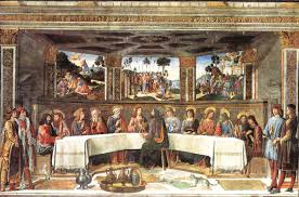 the last supper oil painting 1481 82 cosimo rosselli cosimo rosselli 1439 1507 the last supper fresco 570 cm