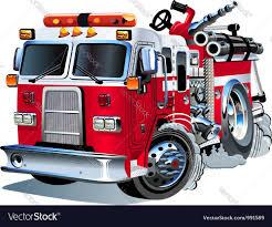 cartoon fire truck royalty free vector image vectorstock
