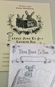 bullet point book reviews book themed baby shower